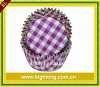 Purple Gingham baking cup,paper baking muffin cases ,Many colours available.