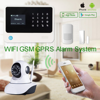 Smart home wifi gsm gprs alarm system G90B with LCD display CE&FCC certification passed Spanish/Swedish/French languages