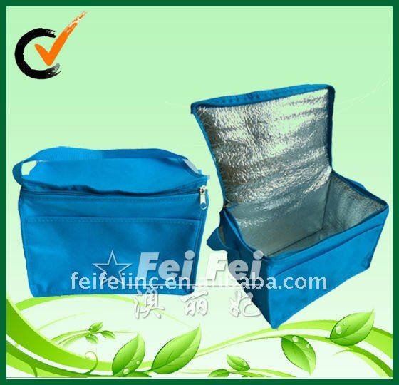 PP non woven 6 bottle cooler bag with aluminum foil lining