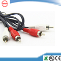 2RCA to 2RCA audio video cable TV cable Phono plug