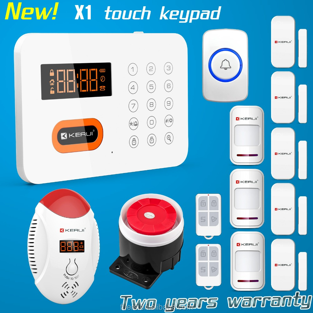 Incredible low price Kerui X1 PSTN support 10 smart socket home security alarm system