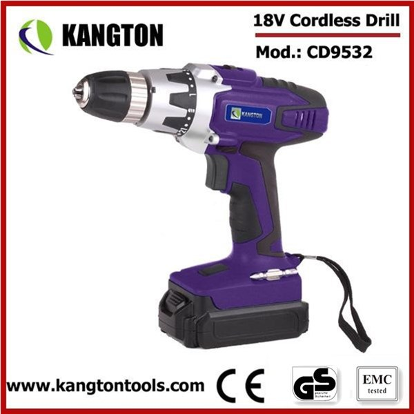 18V 1300mAh Lithium Professional Rechargeable Battery Drill Cordless Drill