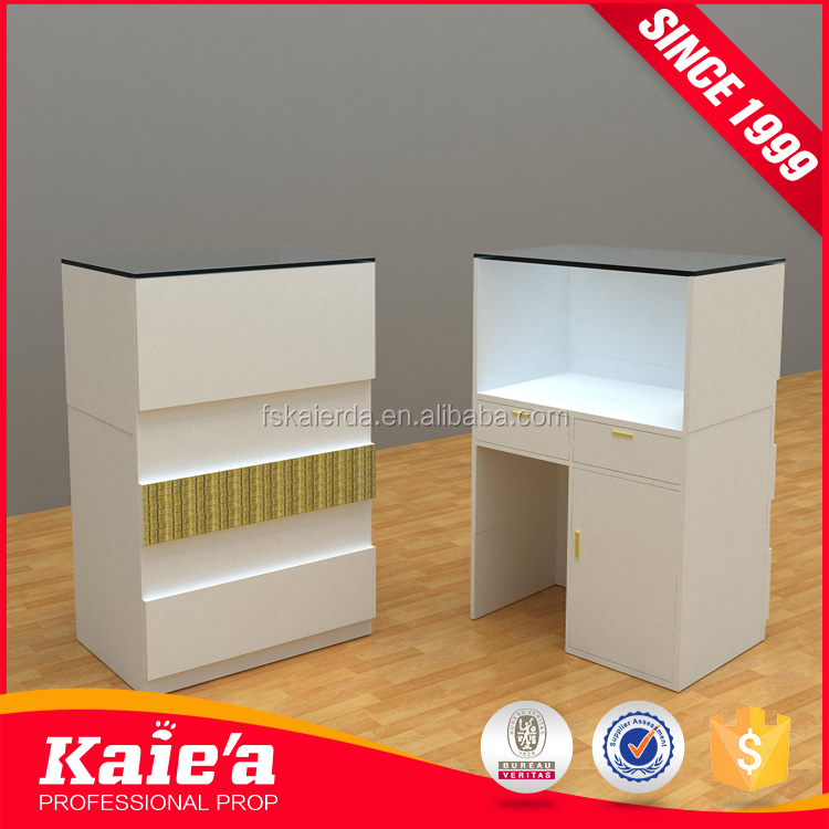 Low price Cash Desk/checkout Counter display /big cashier table