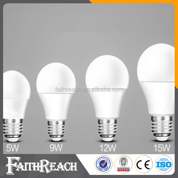 3W,5W,7W,9W,12W,15W led lighting <strong>bulb</strong> with plastic Aluminum body &CE ,ROHS certificate