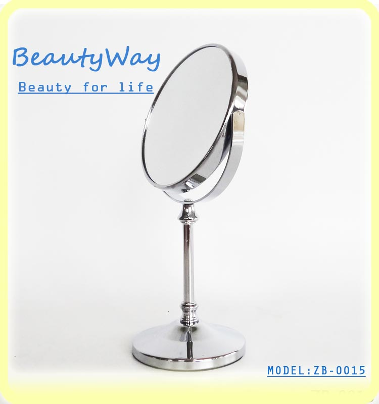 2016 Hot Sales New style doubleface cosmetic dressing table mirror heart shape mirror China factory Wholesale Cheap Price
