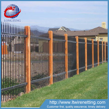 Professional manufacturer supply wrought iron fence with low cost,china garden wrought iron fence