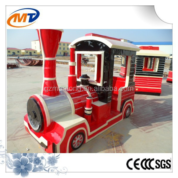 fiberglass electric trackless diesel road train amusement park electric trains