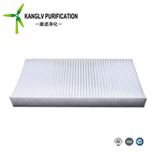 China supply cabin filter for car conditioner to filter air pollutant