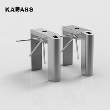 Automatic pedestrian waist high 304 stainless steel tripod swing turnstile with RFID card/fingerprint reader