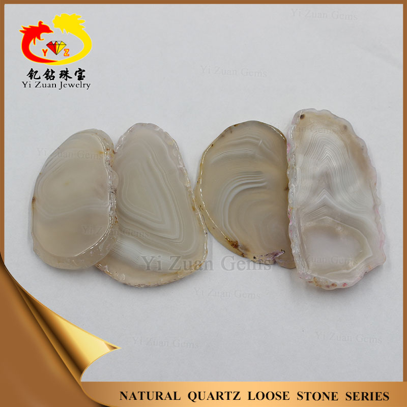 Hot sale white color natural agate onyx stone slices for sale