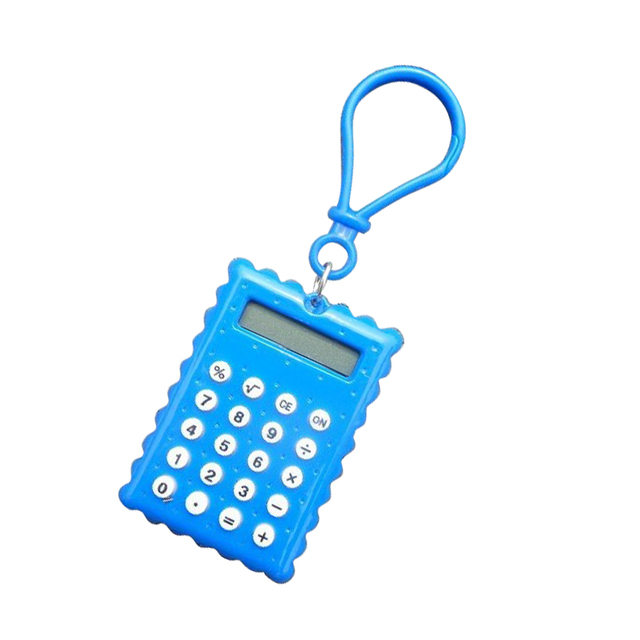 8 Digit Mini Pocket Calculator with Keychain for Gift