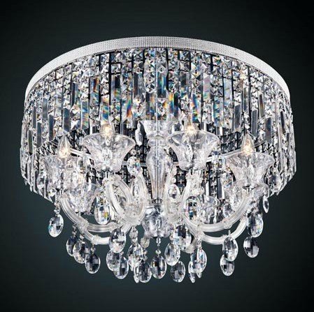 low ceiling crystal chandelier