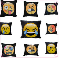 New design reversible sequined emoji cushion