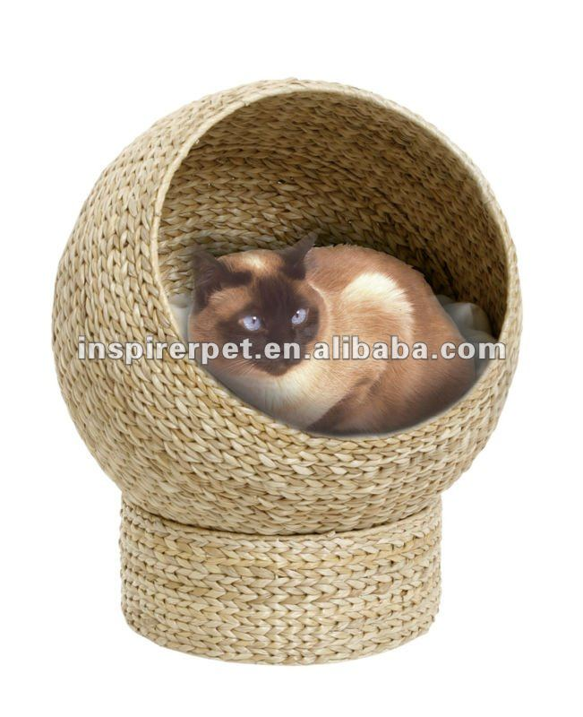 Unique Cat House Banana Leaf Cat Furniture Bed Natural Handmade