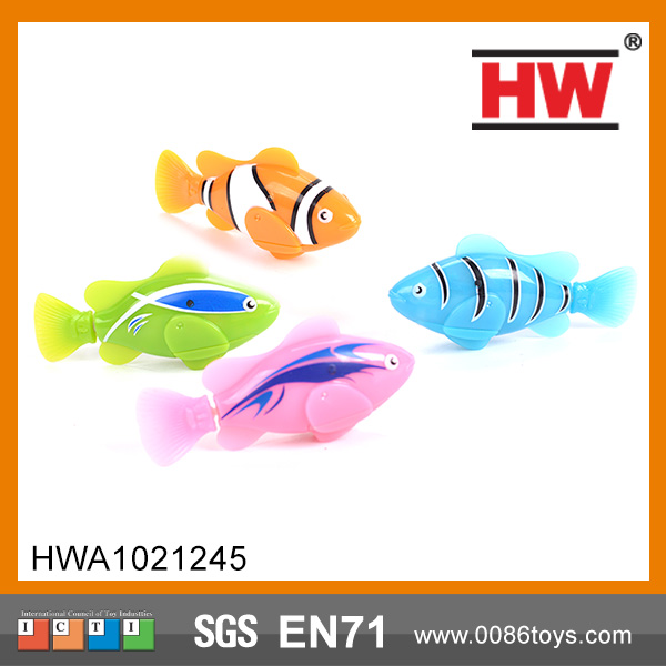 Transparent Electric Swimming Fish with Light Robotic Fish Toy