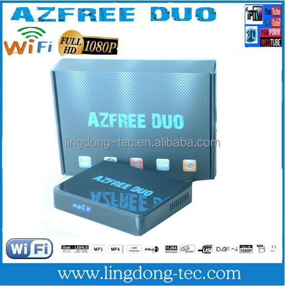 Azfree duo sat receiver iptv Satellite TV newest tv box 2015