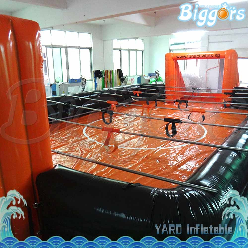 Inflatable Foosball Court Human Table Football Field with Floor for Sale