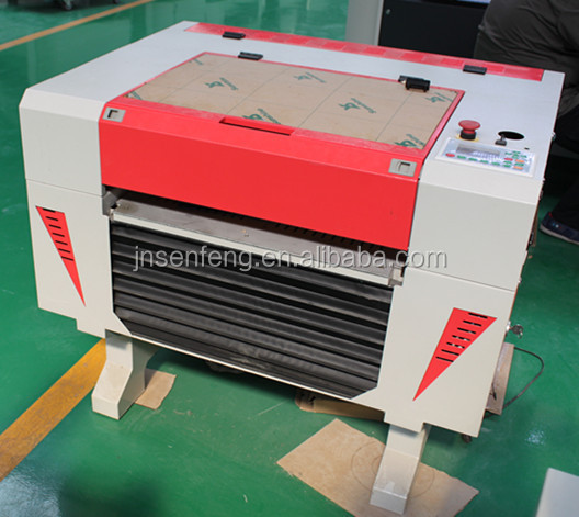 SF6040E laser marking machine marking leather and cloth 40W 50W CO2 glass laser tube