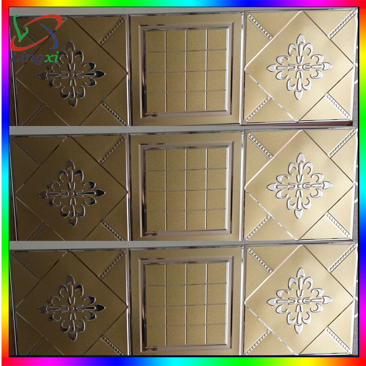 customer popular luxury gold color aluminum ceiling tiles from interior decorator Metal Ceilings