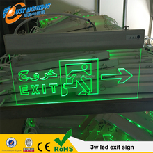 LED Emergency Lights CE RoHS led exit lighting 10 led battery led emergency board green light exit signs
