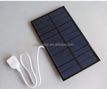 Outdoor 1.6W Silicon Portable Solar Panel Battery Charger 5.5V USB Solar Power Bank Pack