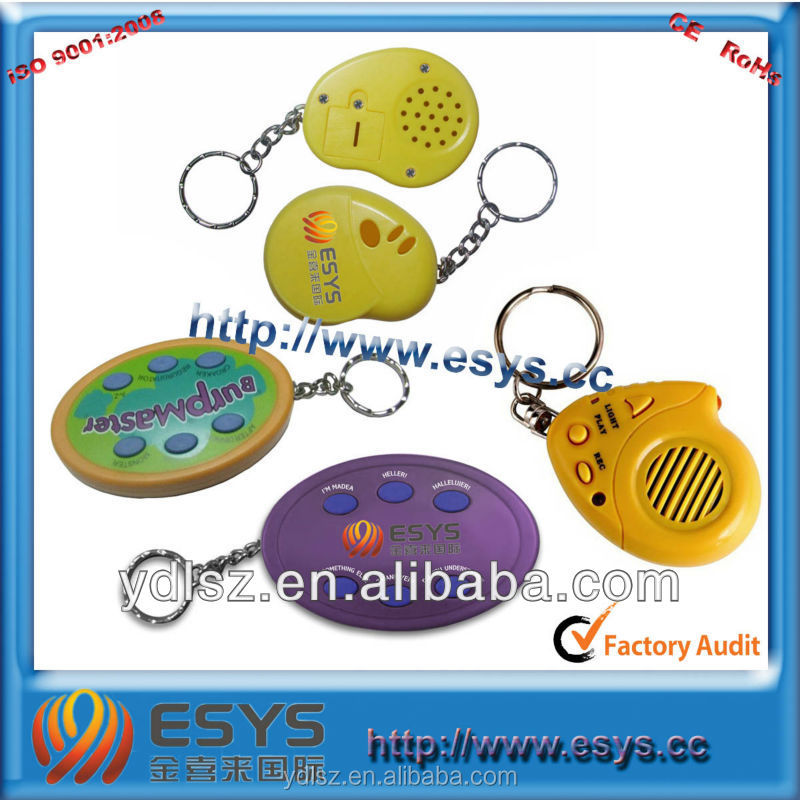 custom shape led flashing key chain for promotional gift