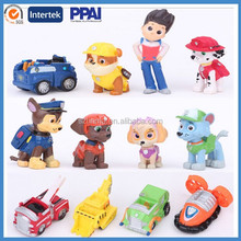 Cartoon 3D dog plastic figure, Custom Plastic Figure, cartoon movie collection toys