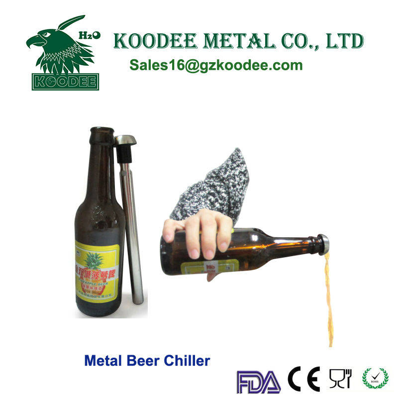 Metal Beer chilling rod / chilling stick keep wine cold for hot sale