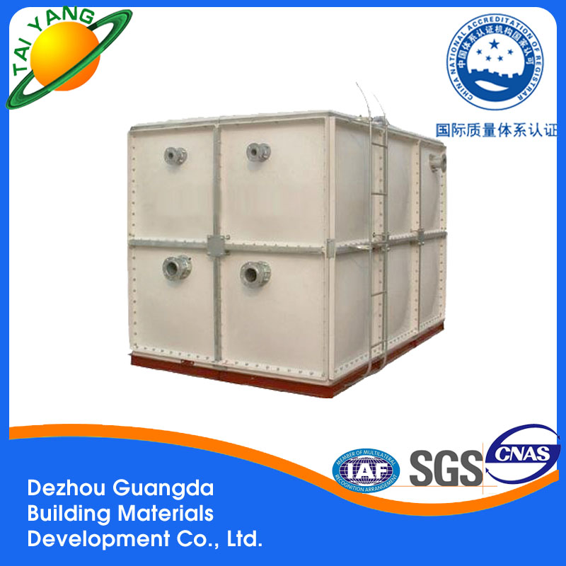 Dezhou Guangda bolts assemble GRP water storage tanks, SMC FRP Pressure water tank