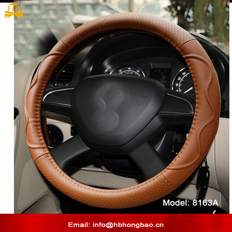 Real super fiber leather best steering wheel cover