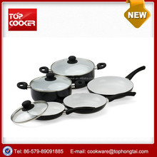 8pcs aluminum press ceramic coating technique cookware set