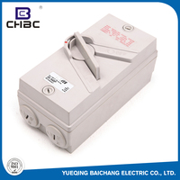 CHBC ISO9001 Approved Weatherproof Plastic Enclosure Disconnecter Isolating Switching