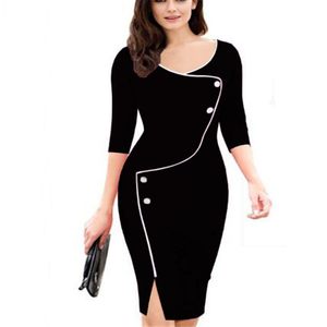 H20006A Fashion long sleeve hot night style lady dress europe slim woman dresses