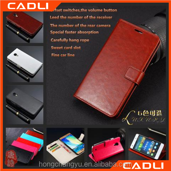 Flip Stand leather wallet Case cover For samsung GALAXY On5 With Card Slot