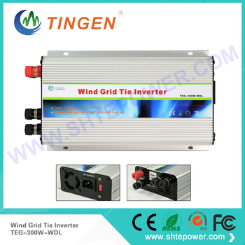 DC 24v 48v to AC 120v 220v Wind turbine grid tie inverter 300w