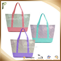 Popwide High Quality Big Size Travel Bag, Dual Color Mixed Shopping Bag