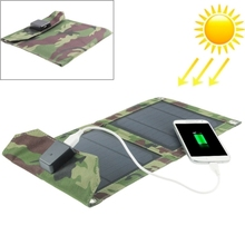 Wholesale price in stock 5W Portable Folding Solar Panel / Solar Charger Bag for Tablets / Mobile Phones