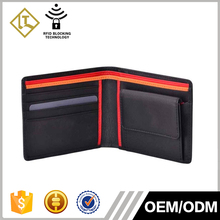 New Brand Classic Top grain leather wallet coin purse Pockets Bifold credit card wallet man with rfid blocking protector