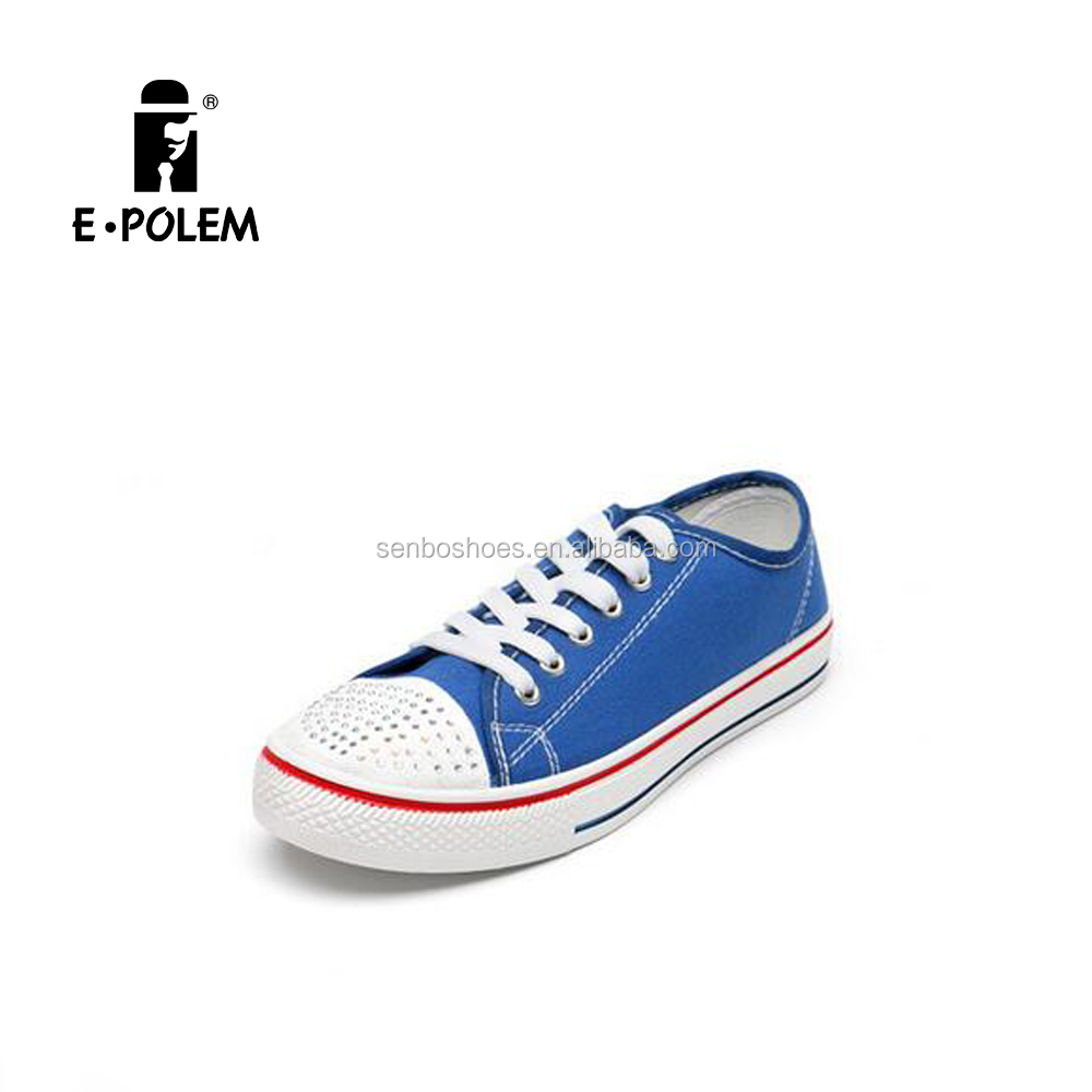 Factory Price Different Color Canvas Vulcanized Shoes