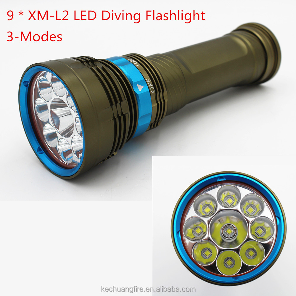 Magnetic scuba dive unit 10000 Lumens flashlight xm l2 tactical underwater torch with 100w