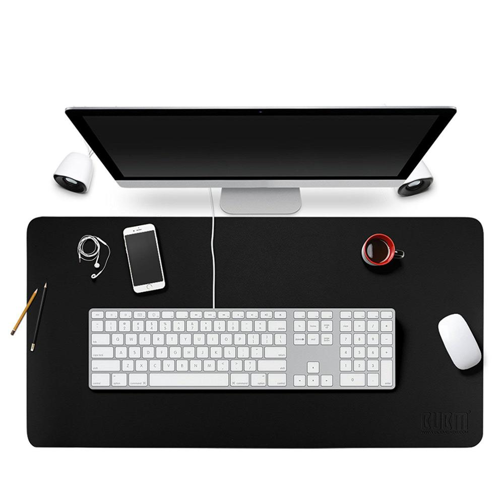 "Desk Pad <strong>Protecter</strong> 35"" x 18"", PU Leather Desk Mat Blotters Mouse Pad Organizer with Comfortable Writing Surface(Black)"