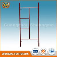 Metal frame falsework scaffolding for building construction