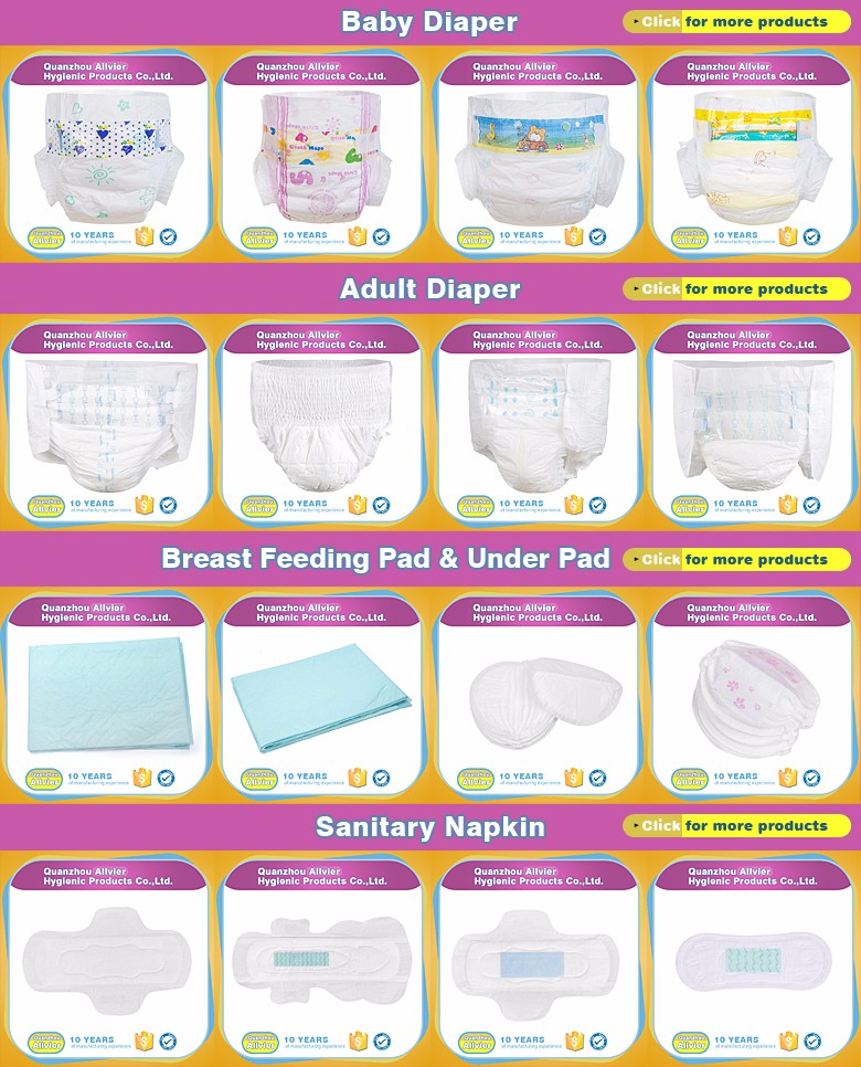 Various size magic tape elastic waist soft disposable adult baby diapers
