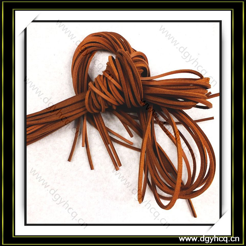 customized microfiber leather shoelace flat leather strips sale