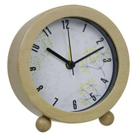 alarm clock battery aa/ clock dail designs table clock with wood / home clock timer