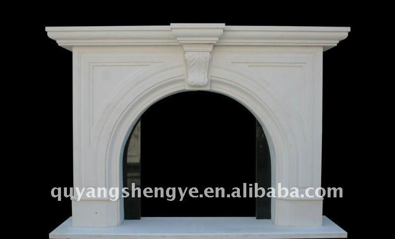 white fireplaces with door