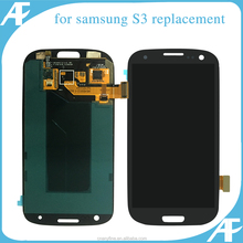 Original New Quality LCD Touch Digitizer Screen for Samsung Galaxy S3 i9300 T999 i747 i535 L710 R530 white black blue with frame