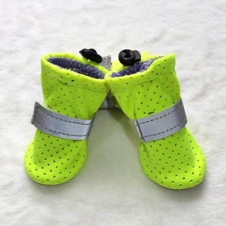 Pet printing summer puppy Shoes Wearable Anti-Slip fabric Breathable Dog Boots
