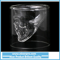 Doomed Crystal Skull Shot Glass/Crystal Skull Head Vodka Shot Wine Glass Novelty