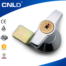 Hot selling high quality tempered glass removable handle door lock